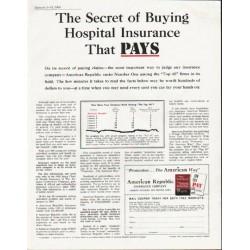 """1963 American Republic Insurance Company Ad """"The Secret"""""""