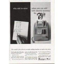 "1963 Remington Rand Ad ""why add to error"""