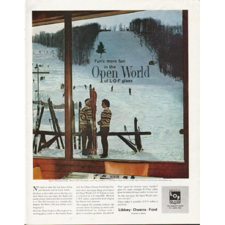 "1963 Libbey Owens Ford Ad ""Open World"""