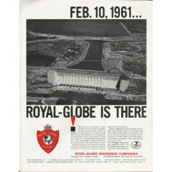 "1963 Royal-Globe Insurance Companies Ad ""Feb. 10, 1961"""