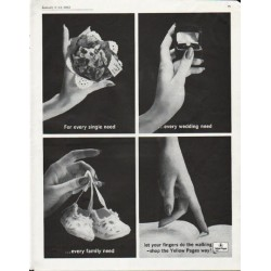 "1963 Yellow Pages Ad ""For every single need"""