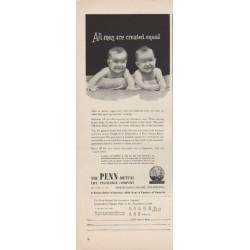 "1949 Penn Mutual Life Insurance Ad ""All men"""