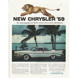 "1959 Chrysler Saratoga Ad ""the lion-hearted car"" ~ (model year 1959)"