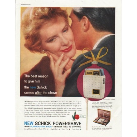 "1958 Schick Shaver Ad ""The best reason"""