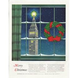 "1958 Metropolitan Life Insurance Company Ad ""Merry Christmas"""
