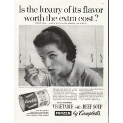 "1958 Campbell's Soup Ad ""luxury of its flavor"""