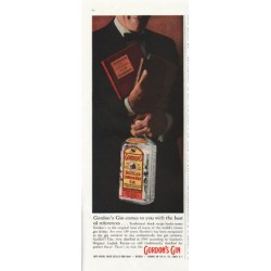 "1958 Gordon's Gin Ad ""Cocktail Book"""