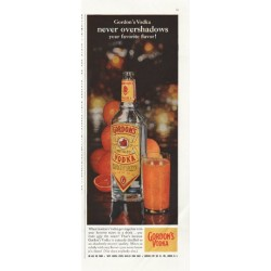 "1958 Gordon's Vodka Ad ""never overshadows"""