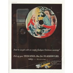 "1958 Sylvania Flashbulbs Ad ""empty flashgun"""