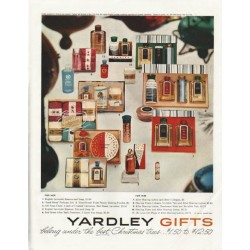 "1958 Yardley Gifts Ad ""the best Christmas trees"""