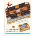 """1958 Page & Shaw Ad """"The Nicest Chocolates"""""""