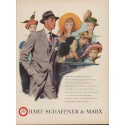 "1949 Hart Schaffner & Marx Ad ""... any man likes people to admire his suit."""