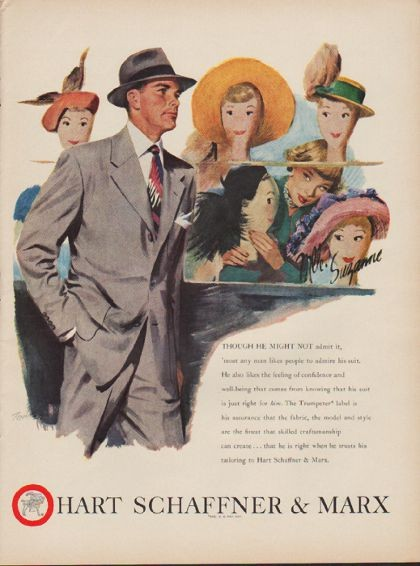 1949 Hart Schaffner Amp Marx Ad Quot Any Man Likes People To