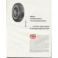 "1964 General Tire Ad ""Millions trust their lives"""