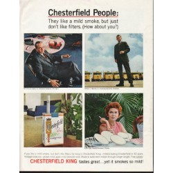 "1964 Chesterfield Cigarettes Ad ""Chesterfield People"""