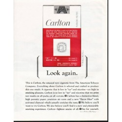 "1964 Carlton Cigarettes Ad ""Look again"""