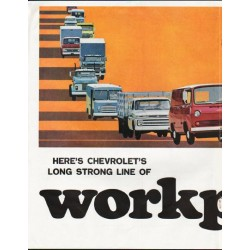 "1965 Chevrolet Trucks Ad ""workpower"" ~ (model year 1965)"