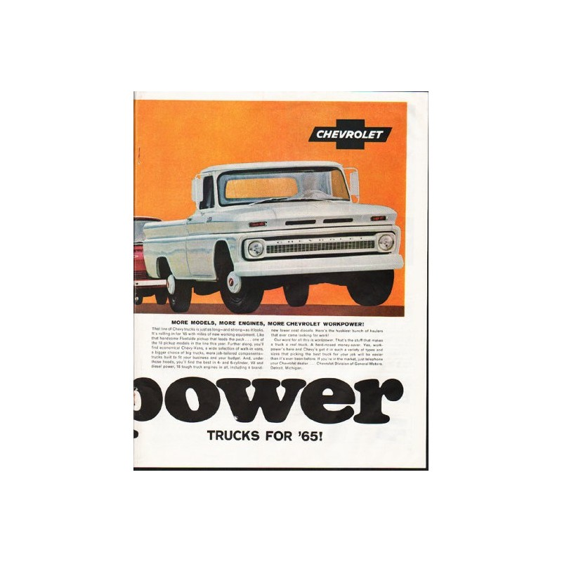 1965 Chevrolet Trucks Vintage Ad \