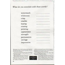 """1964 Hammermill Bond Ad """"these words"""""""