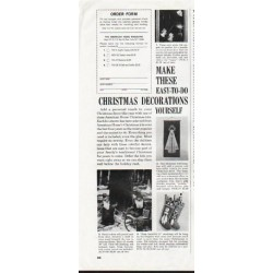 "1964 American Home Christmas Ad ""Christmas Decorations"""