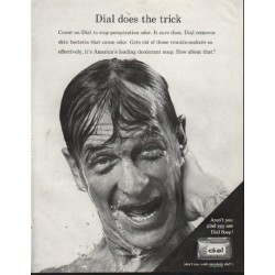 "1964 Dial Soap Ad ""does the trick"""