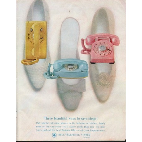"1964 Bell Telephone System Ad ""Three beautiful ways"""