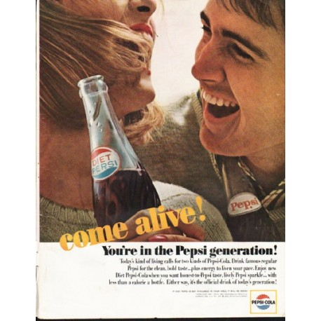 "1964 Pepsi-Cola Ad ""come alive"""