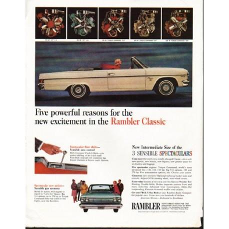 "1965 Rambler Classic Ad ""Five powerful reasons"" ~ (model year 1965)"