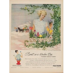 "1949 Textron Ad ""Sweet as a Window Box"""