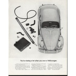 "1965 Volkswagen Ad ""missing a lot"" ~ (model year 1965)"