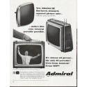 """1965 Admiral Television Ad """"New Admiral 21"""""""""""