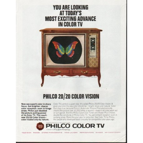 """1965 Philco Television Ad """"You are looking"""""""