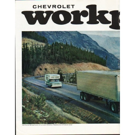 """1965 Chevrolet Trucks Ad """"stays strong"""" ~ (model year 1965)"""
