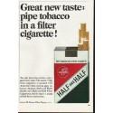 "1965 Half and Half Cigarettes Ad ""Great new taste"""