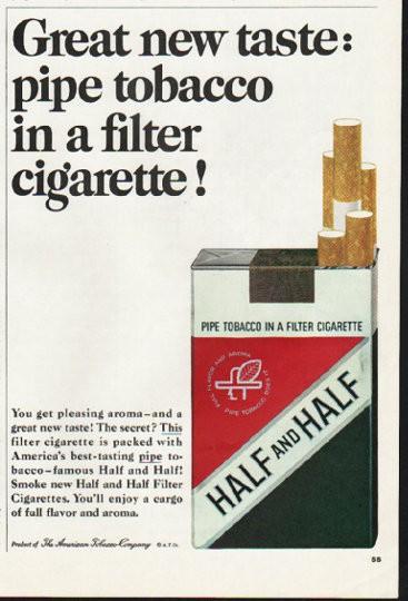 1965 Half and Half Cigarettes Ad