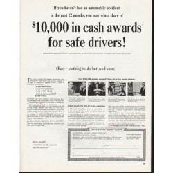 "1965 Automobile Owner's Association Ad ""cash awards"""