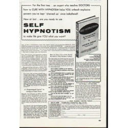 1965 Self Hypnotism Book Ad ~ by Leslie M. Lecron