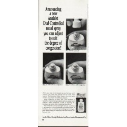 "1965 Anahist Nasal Spray Ad ""Dial-Controlled"""