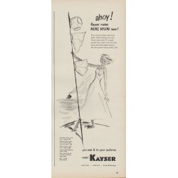 "1949 Kayser Nylon Ad ""ahoy! Kayser makes More Nylon news!"""