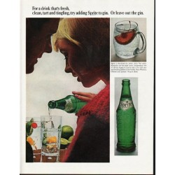 "1965 Sprite Soda Ad ""tart and tingling"""