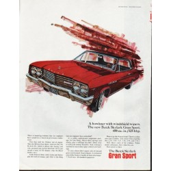 "1965 Buick Skylark Ad ""howitzer with windshield wipers"" ~ (model year 1965)"