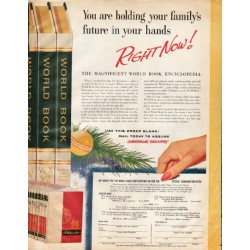 "1961 World Book Encyclopedia Ad ""Right Now"""