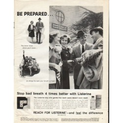 "1961 Listerine Antiseptic Ad ""Be Prepared"""