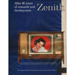 "1961 Zenith Television Ad ""16 years of research"""
