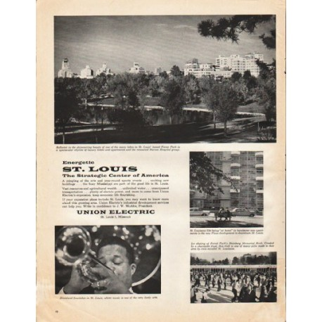 "1961 St. Louis Commerce Ad ""Energetic St. Louis"""