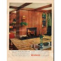 """1961 Weldwood Paneling Ad """"Charter Pecan"""""""