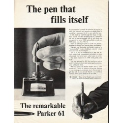 "1961 Parker Pen Ad ""fills itself"""