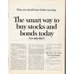 "1961 Members New York Stock Exchange Ad ""smart way"""