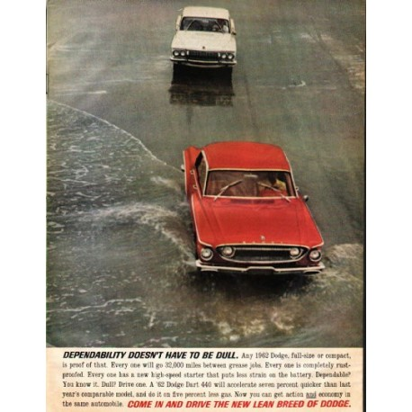 "1962 Dodge Dart Ad ""Dependability"" ~ (model year 1962)"