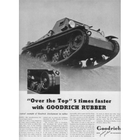 "1937 Goodrich Rubber Ad ""Over The Top"""